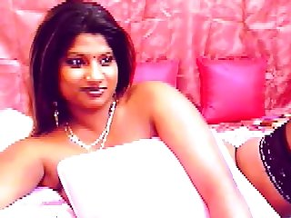 Busty Indian girl close by big dark areolas