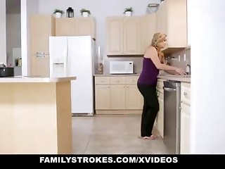 FamilyStrokes - Warm Step-Sister Together with Mother Tricked Together with Romped By StepBro